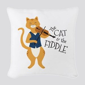The Cat & The Fiddle Woven Throw Pillow
