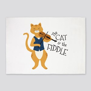 The Cat & The Fiddle 5'x7'Area Rug