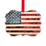 Vintage American Flag Ornament