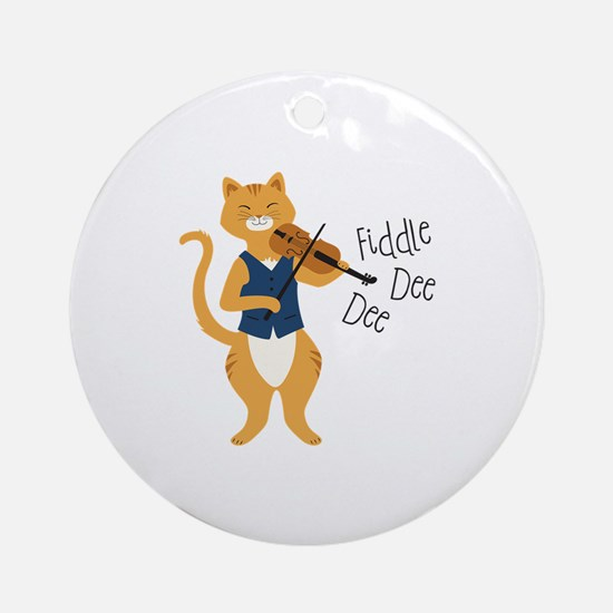 Fiddle Dee Dee Ornament (Round)