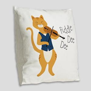 Fiddle Dee Dee Burlap Throw Pillow