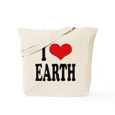 I Love Earth (word) Tote Bag