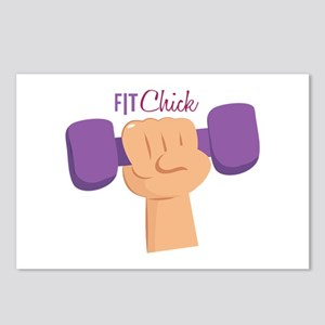 Fit Chick Postcards (Package of 8)