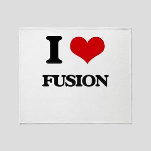 I Love Fusion Throw Blanket