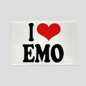 I Love Emo Rectangle Magnet