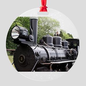 Steam train, Wales, United Kingdom Round Ornament