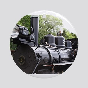 Steam train, Wales, United Kingdo Ornament (Round)