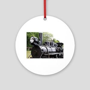 Steam train, Wales, United Kingdo Ornament (Round)