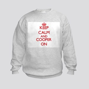 Keep Calm and Cooper ON Kids Sweatshirt
