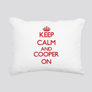 Keep Calm and Cooper ON Rectangular Canvas Pillow