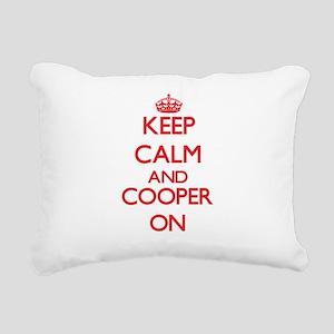 Keep Calm and Cooper ON Rectangular Canvas Pillow