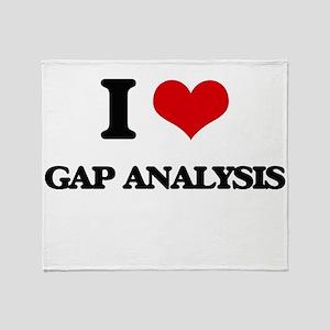 I Love Gap Analysis Throw Blanket