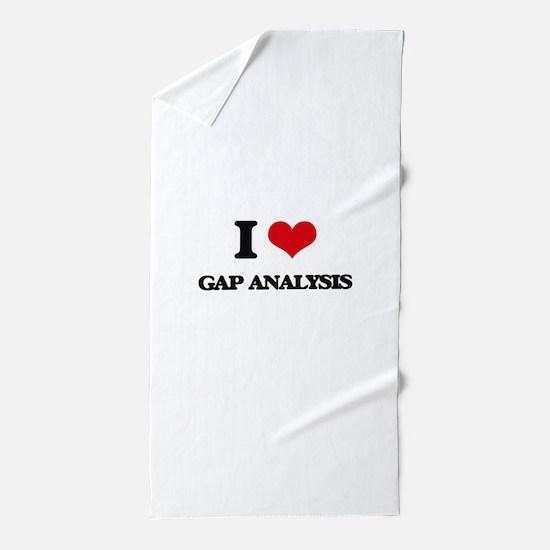 I Love Gap Analysis Beach Towel