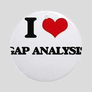 I Love Gap Analysis Ornament (Round)