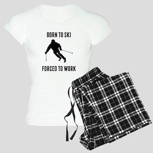 Born To Ski Forced To Work Pajamas