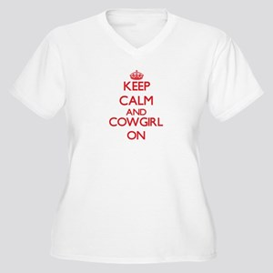 Keep Calm and Cowgirl ON Plus Size T-Shirt