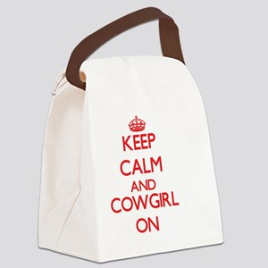 Keep Calm and Cowgirl ON Canvas Lunch Bag
