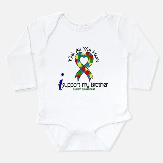 Cute Autism sister Long Sleeve Infant Bodysuit