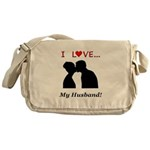I Love My Husband Messenger Bag
