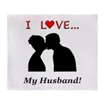 I Love My Husband Throw Blanket