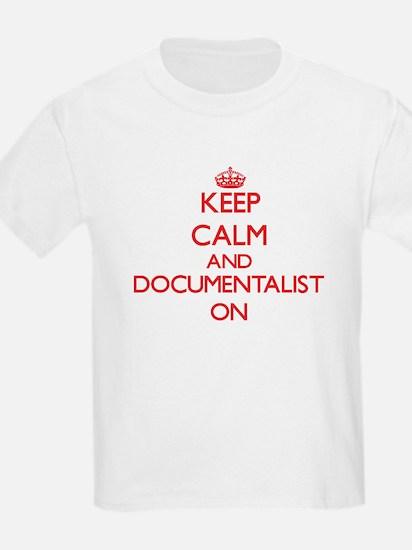 Keep Calm and Documentalist ON T-Shirt