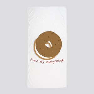 bagle_Your my everything! Beach Towel