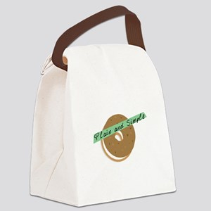 bagle_Plain and Simple Canvas Lunch Bag