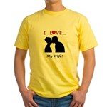 I Love My Wife Yellow T-Shirt