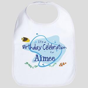 Celebration for Aimee (fish) Bib