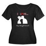 I Love M Women's Plus Size Scoop Neck Dark T-Shirt