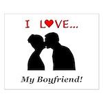 I Love My Boyfriend Small Poster