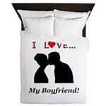 I Love My Boyfriend Queen Duvet