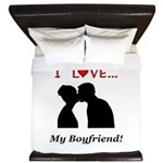 I Love My Boyfriend King Duvet