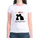 I Love My Boyfriend Jr. Ringer T-Shirt