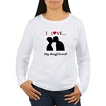 I Love My Boyfriend Women's Long Sleeve T-Shirt