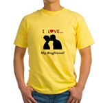 I Love My Boyfriend Yellow T-Shirt