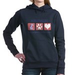 FIN-airedale-terrier-pawprints Women's Hooded