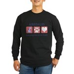 FIN-airedale-terrier-pawprints Long Sleeve Dar