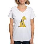 airedale-terrier Women's V-Neck T-Shirt