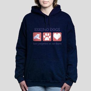 FIN-eskimo-dogs-pawprints Women's Hooded Sweat