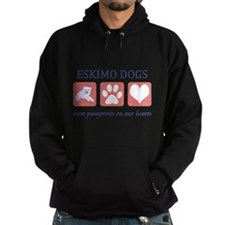 FIN-eskimo-dogs-pawprints Hoodie (dark)