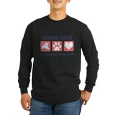 FIN-eskimo-dogs-pawprints Long Sleeve Dark T-S