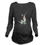 American Foxhound Party Long Sleeve Maternity T-Sh