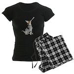 American Foxhound Party Women's Dark Pajamas