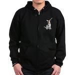 American Foxhound Party Zip Hoodie (dark)