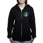 Irish American Foxhound Women's Zip Hoodie
