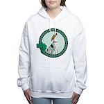 Irish American Foxhound Women's Hooded Sweatshirt
