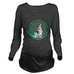 Irish American Foxhound Long Sleeve Maternity T-Sh