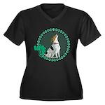 Irish American Foxhound Women's Plus Size V-Neck D