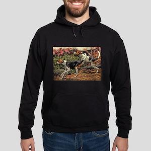 FIN-american-foxhound-portrait Hoodie (dark)